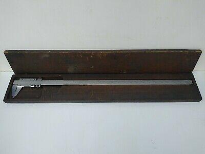 Starrett No. 123 26 Vernier Caliper Hardened Stabilized Master Bar Wwood Box