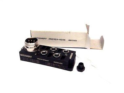 Beckhoff Zs2020-4304 Power Distribution Box 4 X M8 1-78 Inch