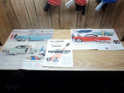 Lot of (4) 1955 Lincoln Capri 2 Page Print Ads