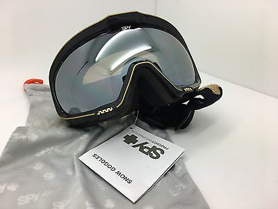 cf2676f5ef26 SPY+ Optic Snow Goggles 311018062001 Black-Gold Goggle Bronze-Silver Mirror  Lens