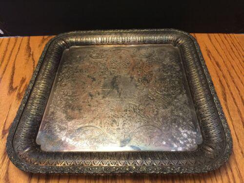 "Barker Ellis 13""  Square Silverplate Platter"