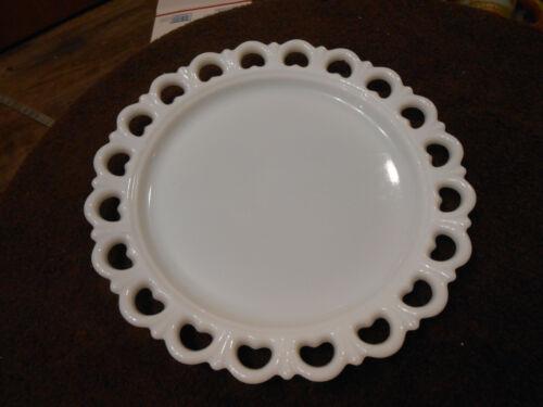 "Beautiful 13"" vintage milk glass sandwich/dessert plate"