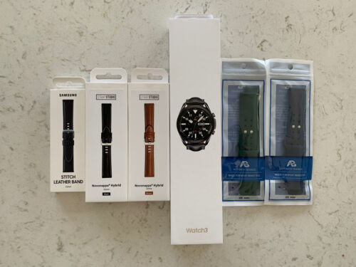 Samsung Galaxy Watch 3 45MM 5 Bands, Bluetooth LTE Unlocked -Black-unopened - $260.00