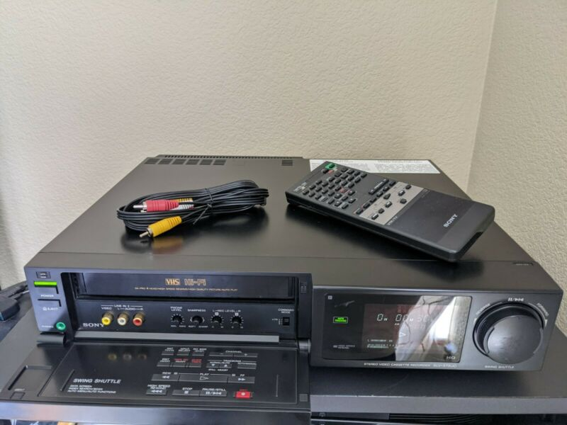 REFURBISHED! Sony SLV-575UC Pro 4 Head Stereo HiFi VCR w/Remote Cables