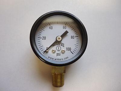 Winters 18 Npt Air Compressor Hydraulic Pressure Gauge 0-100 Psi 2 Pack