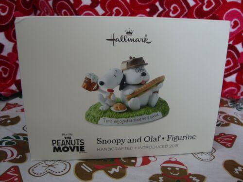 """Peanuts Hallmark Snoopy and Olaf Figurine Introduced 2015 """"The Peanuts Movie"""""""