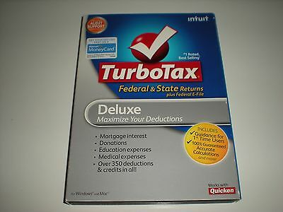 Turbotax 2010 Deluxe With State  Turbo Tax   New