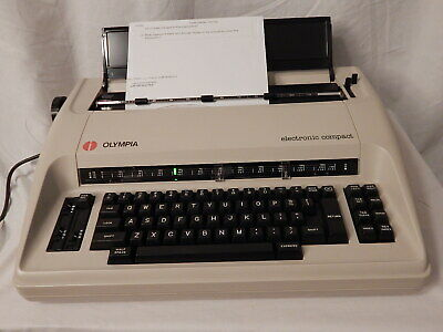 Olympia Electronic Compact Electric Typewriter - Tested Working