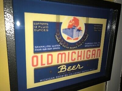 Old Michigan Grand Rapids Tavern Beer Bar Man Cave Lighted Advertising Sign