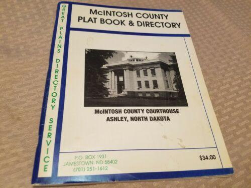 1995 McIntosh County North Dakota Plat Book & Directory