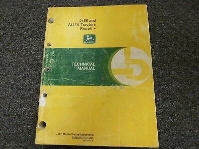 John Deere 2155 2355n Tractor Shop Service Repair Technical Manual Tm4435