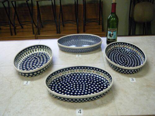 Polish Pottery, Bolesławiec, Large Oval Baker