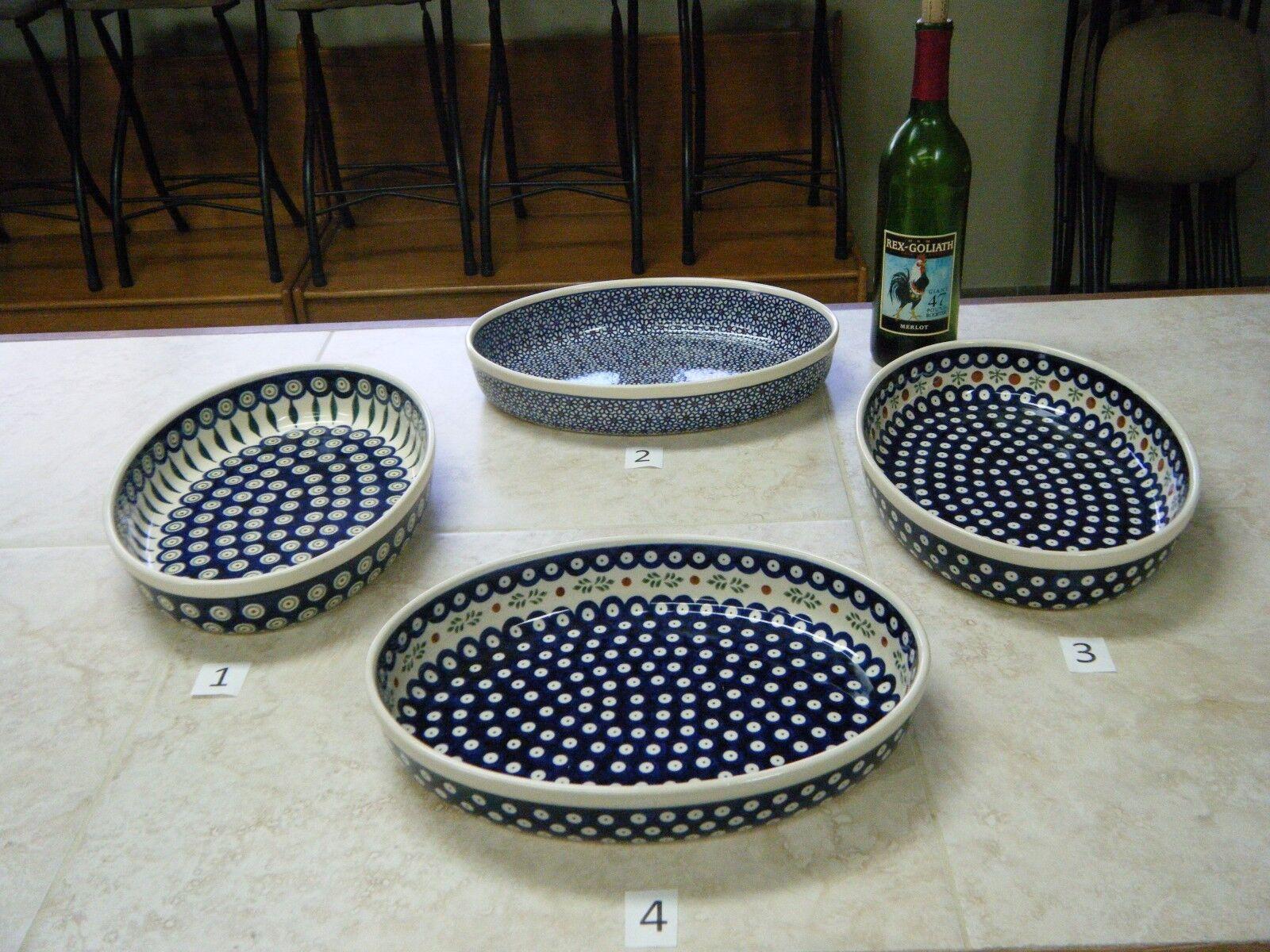 Finden, vergleichen, kaufen - Polish Pottery Large Oval Baker 12.5 X 9.25 X 2.75, Boleslawiec auf eBay.com ab 27.0 USD