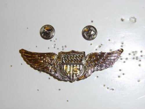 b0428 WW 1 US Army Pilot Silver metal wing late IR30C