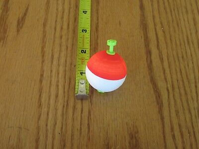 """Red White Weighted Foam Snap on Float 12 2/"""" FISHING BOBBERS Cigar Floats Flo"""