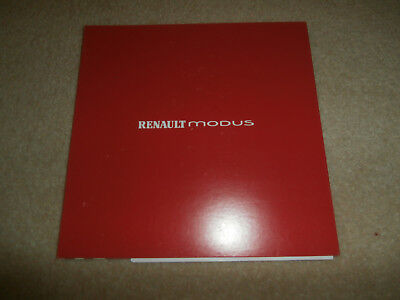 Renault Modus 2004 FUN game Launch Sales Brochure. with invitation letter.