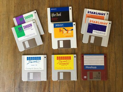 Ancient Early Apple Macintosh Games and Screen Saver Software