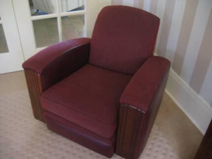 Art Deco 1930's Club Lounge Chair