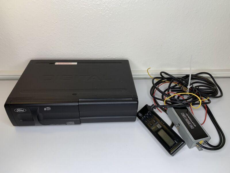 Ford Ranger factory 6 disc CD changer 95 96 97 F6FF-18C830-BA w/ Cartridge Cords