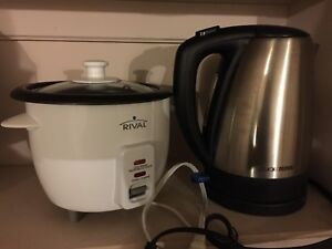 rice cooker and kettle