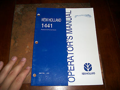 New Holland 1441 Discbine Disc Mower-conditioner Operators Manual
