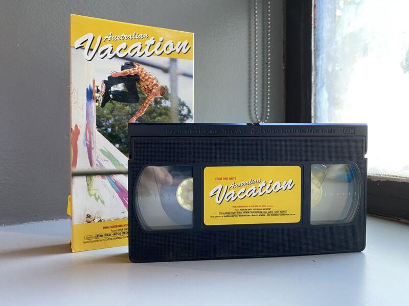 VHS 411 - Australian Vacation 1997 Cambell Daewon Wray RARE SKATEBOARD