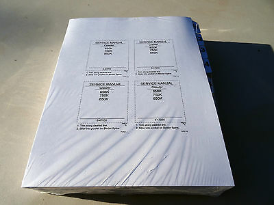 Case 650k 750k 850k Crawler Dozer Service Repair Shop Manual Book - Unopened