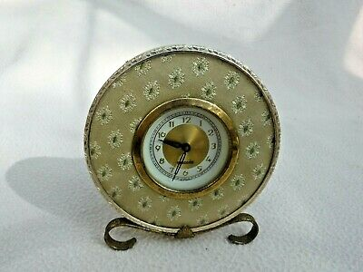 MERCEDES MOVEMENT SET IN A CLOTH DETAILED  SOURROUND  , MANTLE CLOCK  GWO