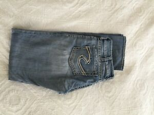 Ladies Silver Jeans 32/34 straight leg