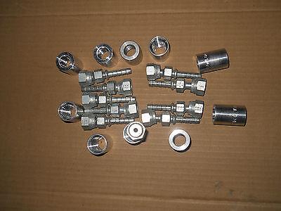 Gates 4c2-4fforx 14 Hydraulic Hose Fittings 83605 And 4pc1fa Ferrules- 10 Pack