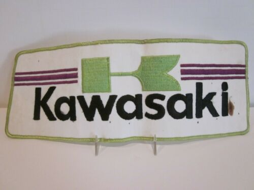 VTG KAWASAKI MOTORCYCLES RACING TEAM PATCHES LOT LARGE UNIFORM BACK PATCH JACKET