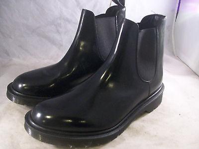 NEW DR. MARTENS MEN'S GRAEME CHELSEA BOOTS BLACK LEATHER 7 MEDIUM 6 UK $300
