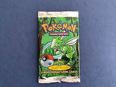 Pokemon 1st Edition Jungle Scyther Booster Pack Wrapper, No Cards