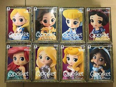 Q Posket Disney Characters Petit Girls Festival Figure 8 Set Qposket Alice Belle
