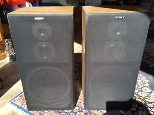Two Sony 3-way speakers