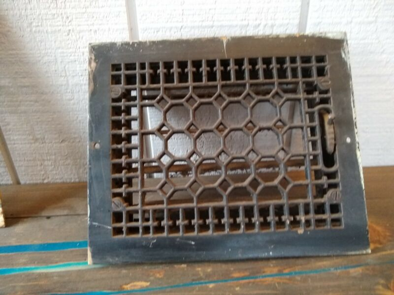 Antique Cast Iron Floor Grate With Louvres