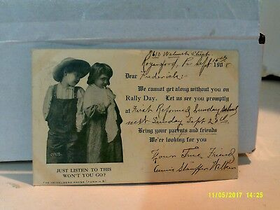 1908 RALLY DAY EVENT POSTCARD