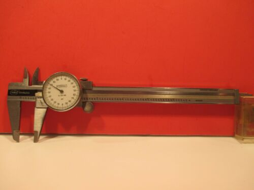 "VINTAGE  HELIOS  6""  DIAL  CALIPER,  MACHINIST  TOOL ,  made in GERMANY"