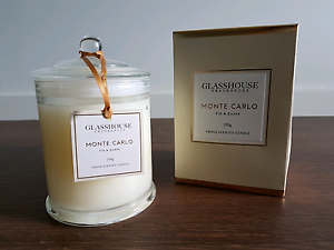 GLASSHOUSE Monte Carlo Fig & Guava Triple Scented Candle Carindale Brisbane South East Preview
