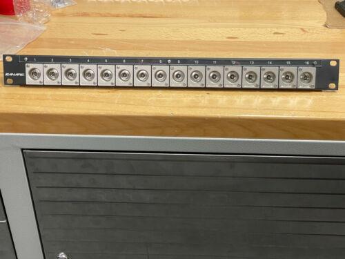 Canare 161U-BJRUK 1RU 12G A/V BNC Panel