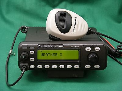 Motorola Mcs2000 Ii Vhf 25 Watt Dash Mount Radio 146-174 Mhz With Microphone