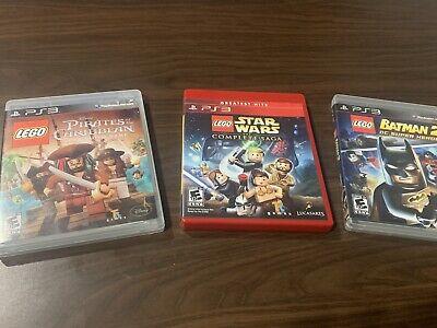 LEGO PS3 Game Lot - Star Wars Pirates Of Caribbean Batman 2 - FS