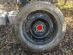 General Altimax Arctic Tires (Studded) / Steel Rims