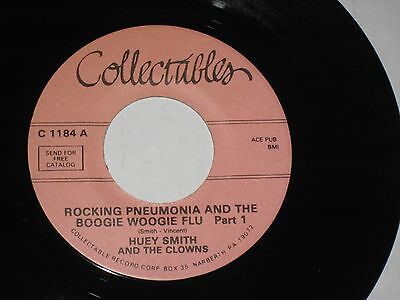 45 Rpm Huey Smith Clowns Rocking Pneumonia Prts 1 2   C 1184  Nice See Pic