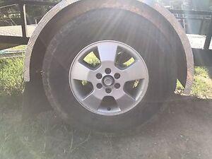 D40 wheels n tyres and custom trailer hubs $375 South Maclean Logan Area Preview