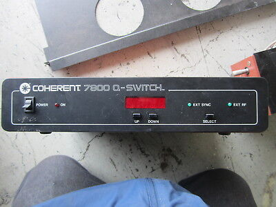 Coherent Laser 7800 Q - Switch Controller Part Number 016-169-00