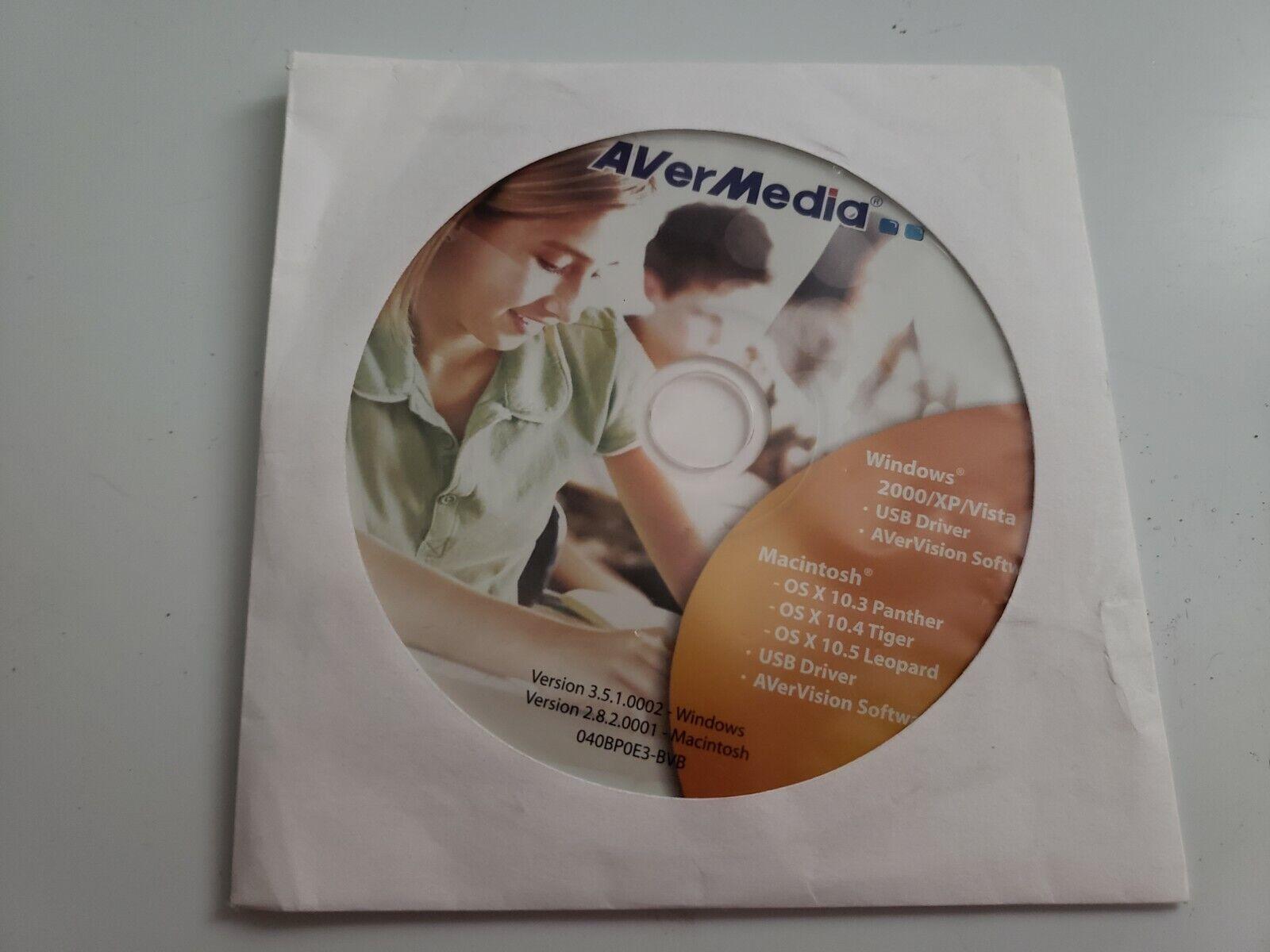 AVerMedia AVerVision Software CD Version 3.5.1 Windows 2000 XP Vista
