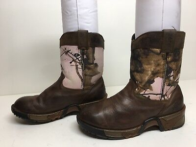VTG GIRLS ROCKY COWBOY BROWN BOOTS SIZE 2 M