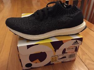 ADIDAS ULTRABOOST UNCAGED GREY/BLACK SIZE 8.5 DS
