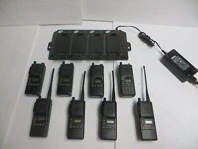 Lot Of 8 Icom Ic-f4tr-1 Uhf Two Way Radios With Battery Charger